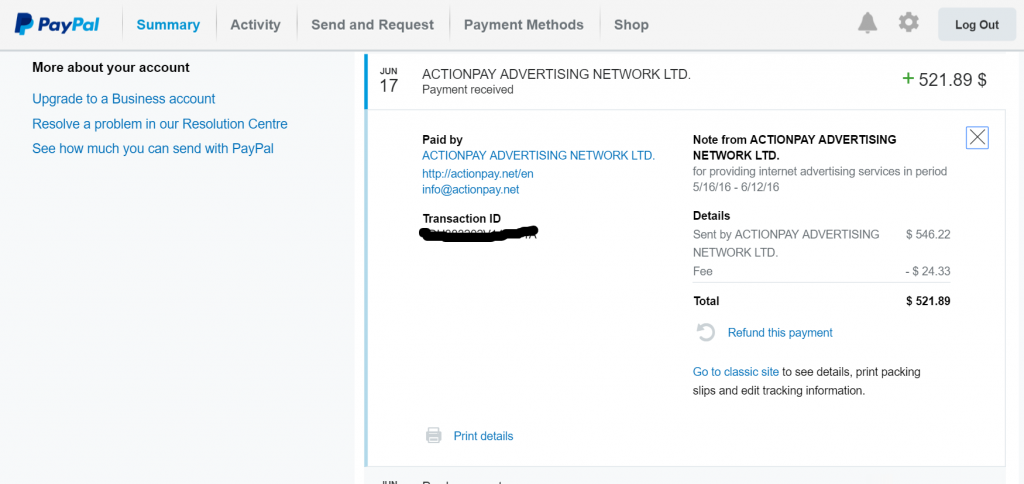 PayPal Payment1
