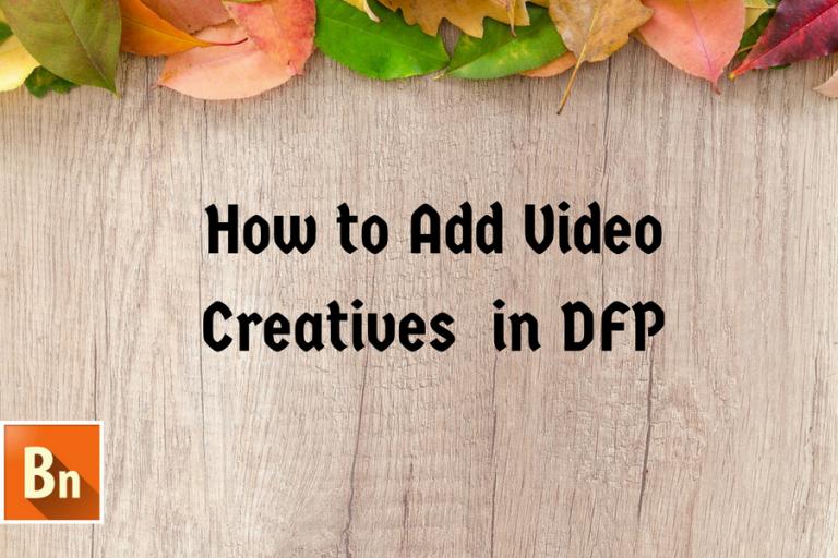add video creative in DFP